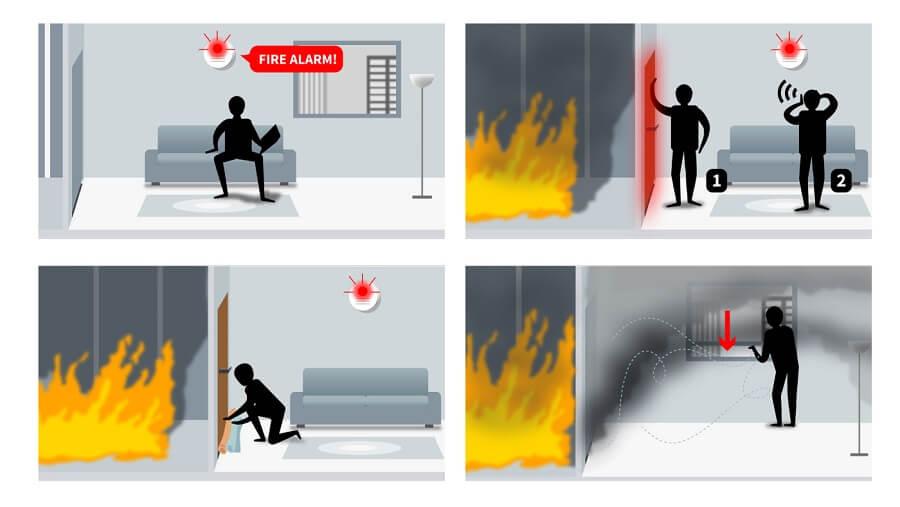 Qué hacer si se produce un incendio